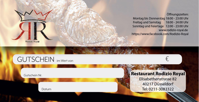 restaurant gutscheine online verschenken rodizio royal gutschein shop. Black Bedroom Furniture Sets. Home Design Ideas